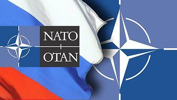 NATO Venäjä lippu