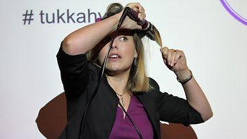 Mariela Sarkima Remingtonin tilaisuudessa 25.9.2014.