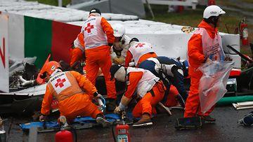 Jules Bianchi, 2014 Japani, ulosajo kolari (6)