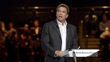 Arnold Schwarzenegger piti hauskan puheen