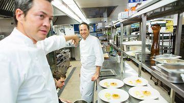 Javier ja Sergio Torres ravintola Pinellassa Food&Fun-festivaaleilla Turussa 2014.