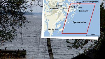 Ruotsi sukellusvene etsintäalue