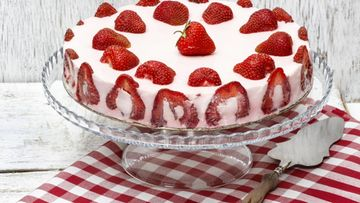 Mansikkakakku, kakku
