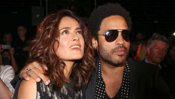 Lenny-Kravitz-Salma-Hayek-Saint-Laurent-fashion-show-in-Paris