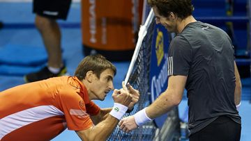 Tommy Robredo ja Andy Murray 2014