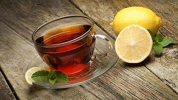 tee, sitruuna