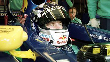 Kimi Räikkönen aloitti F1-uransa Sauberilla vuonna 2001.