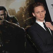 Tom Hiddlestonin yksi tunnetuin rooli on leikkimielinen julmuri Loki. Copyright: All Over Press. Photographer: Veronica Summers / Splash News.