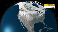 Kartta paljastaa: N�in laajalti on lunta Yhdysvalloissa