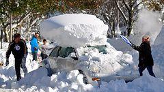 USA:n jättilumista tulvavaara – lumimyrsky uhkaa kiitospäivän liikennettä
