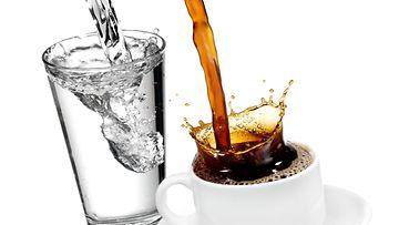 vesi, kahvi