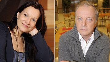 Johanna Vuoksenmaa ja Matti Rönkä saapuvat yhdessä Linnan juhliin.