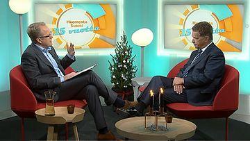 Tasavallan presidentti Sauli Niinistö vieraili Huomenta Suomen juhlalähetyksessä.