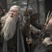 Ian McKellen ja Luke Evans tähdittävät Hobitti-elokuvaa. Copyright: All Over Press. Photographer: TASS.