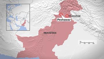 pakistan Peshawar kartta