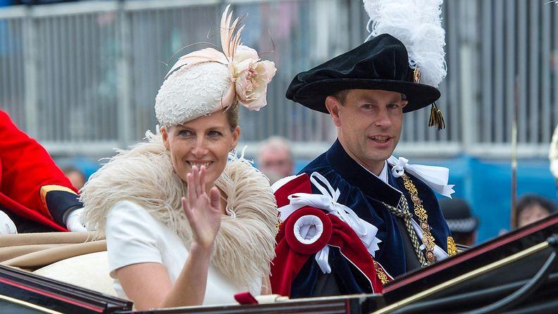 Wessexin kreivitär Sophie ja prinssi Edward kesällä 2014.
