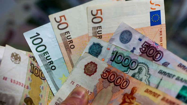 rupla euro valuutta Venäjä EU raha Suomi kauppa talous