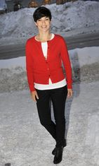 Anna-Liisa Tilus oli mukana kertomassa Helsingin kaupungin perinteisen Senaatintorin uudenvuoden juhlan tapahtumista tiedotustilaisuudessa Helsingissä torstaina 9 . joulukuuta 2010.