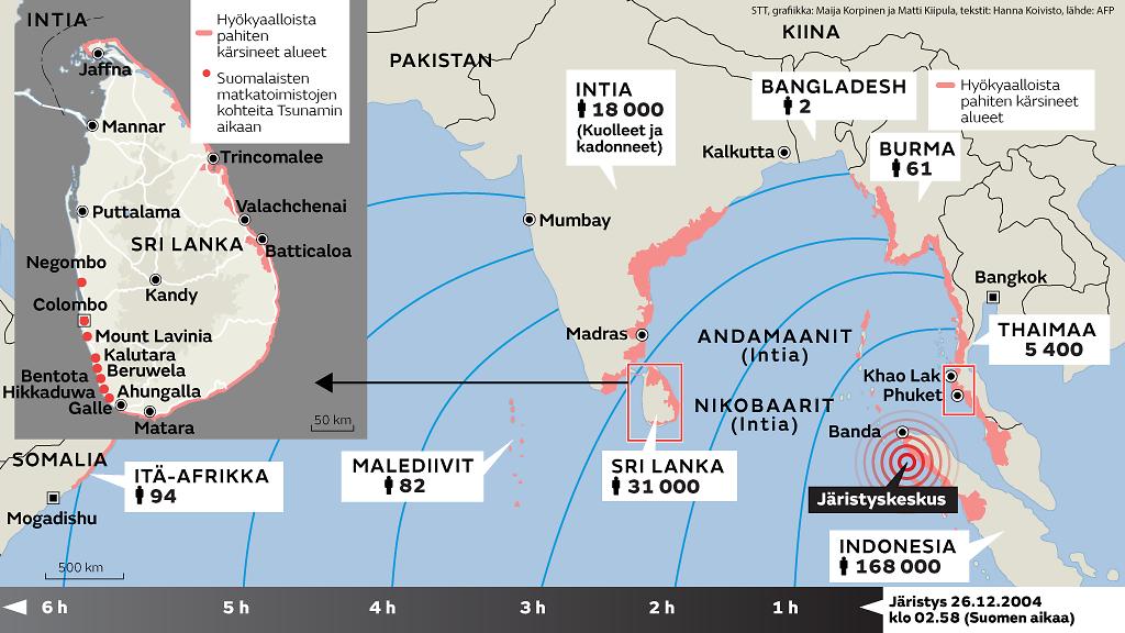 Tsunami Riskialueet