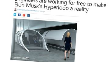 hyperloop - kuvakaappaus Engadgetista