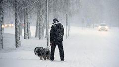 Loppuviikko sateinen: Pohjoiseen 20-50 senttiä lunta, etelään ja länteen myös vettä