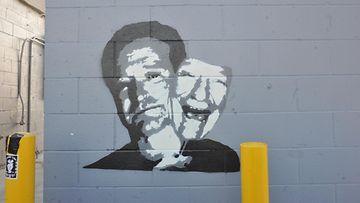 Robin Williamsin muistolle tehty maalaus 2