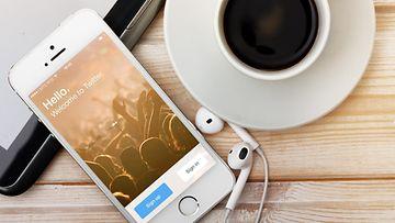 älypuhelin, iPhone, twitter