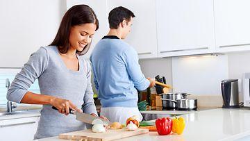 keittiö, pariskunta