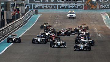 F1, kuvitus, lähtö, Abu Dhabi 2014