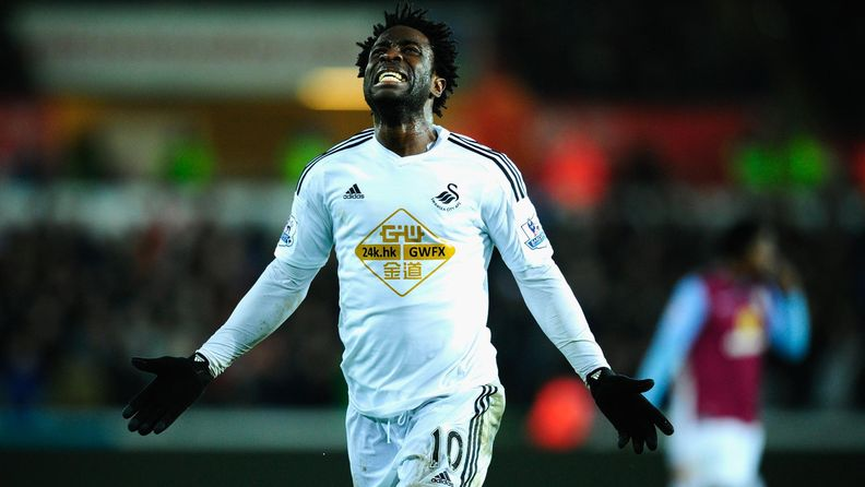 Wilfried Bony Swansean paidassa joulukuussa.