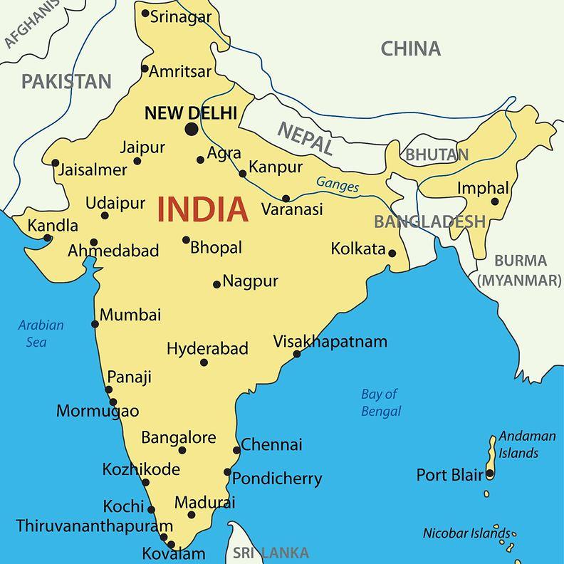 Intian kartta
