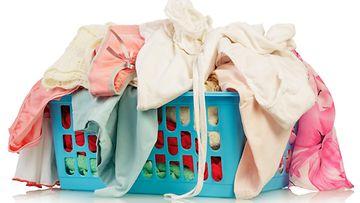 vaatteet, pyykit, pyykkikori