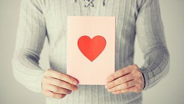 Mies ja sydänkortti