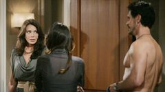 Taylor, Steffy ja Bill (Hunter Tylo, Jacqueline MacInnes Woods ja Don Diamont).