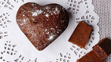 sydämenmalliset muffinit