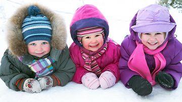 lapset, talvi