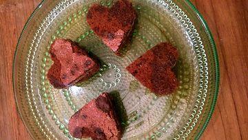 Vapun reseptit: Suklaiset sydänleivokset
