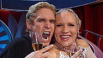 Voittajat Mariko Pajalahti ja Aleksi Seppänen. (Kuva: MTV3)