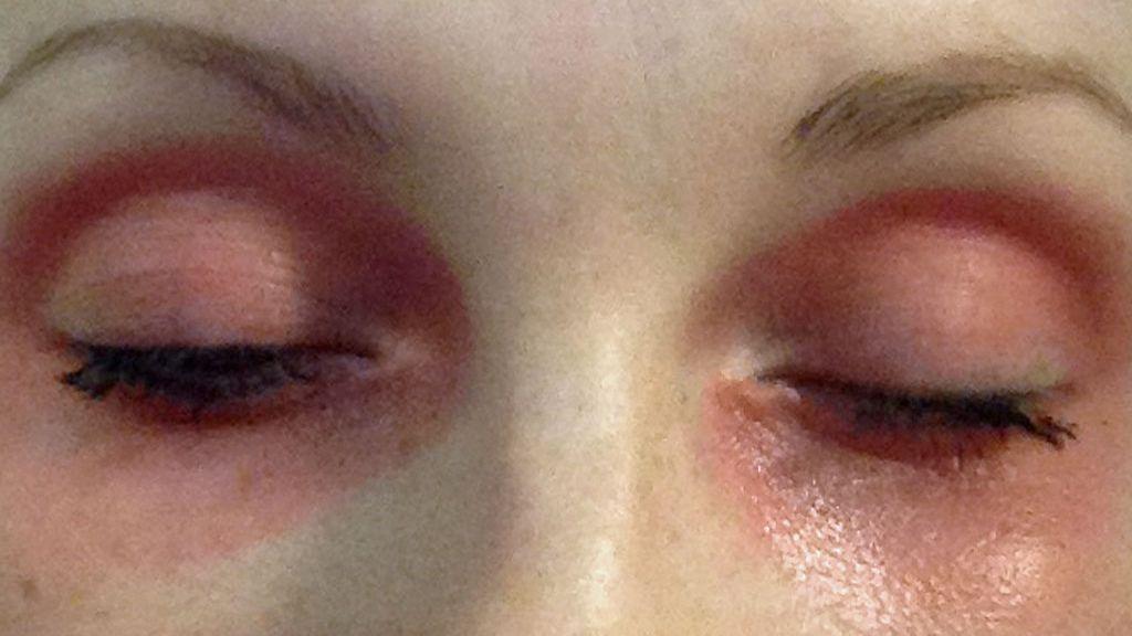 Tummat silmänaluset meikki