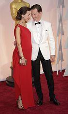 Benedict Cumberbatch ja Sophie Turner Oscar-gaala 2015. (4)