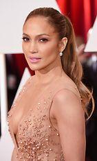 Jennifer Lopez Oscar-gaalassa 2015.