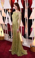 Emma Stone Oscar-gaalassa 2015.