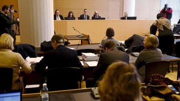 Vilja Eerika -oikeudenkäynti 23. helmikuuta 2015 Helsingin käräjäoikeudessa.