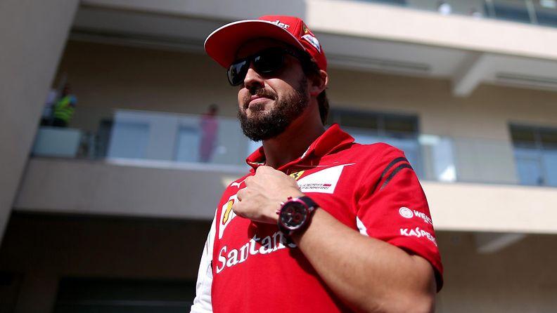 Fernando Alonso ajoi Ferrarilla viisi kautta.