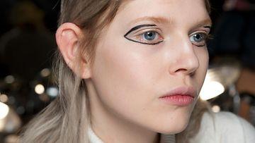 DKNYn syksytalvi 2015 -malliston näytöksessä nähtyä hiustyyliä