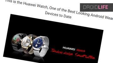 huawei-watch Kuvakaappaus Droid Life -sivustolta