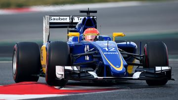 Sauber, Felipe Nasr, Barcelona, 2015