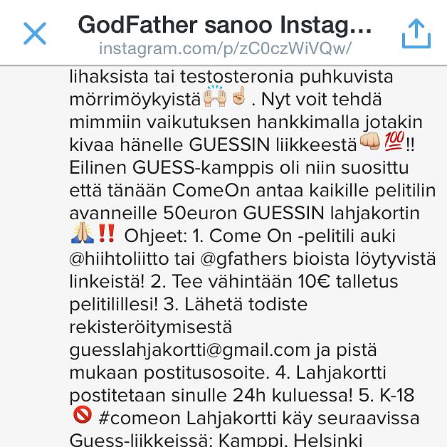 Markkinaviesti Instagram