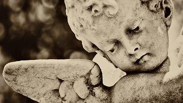 kuolema, patsas, enkeli, lapsi, historia