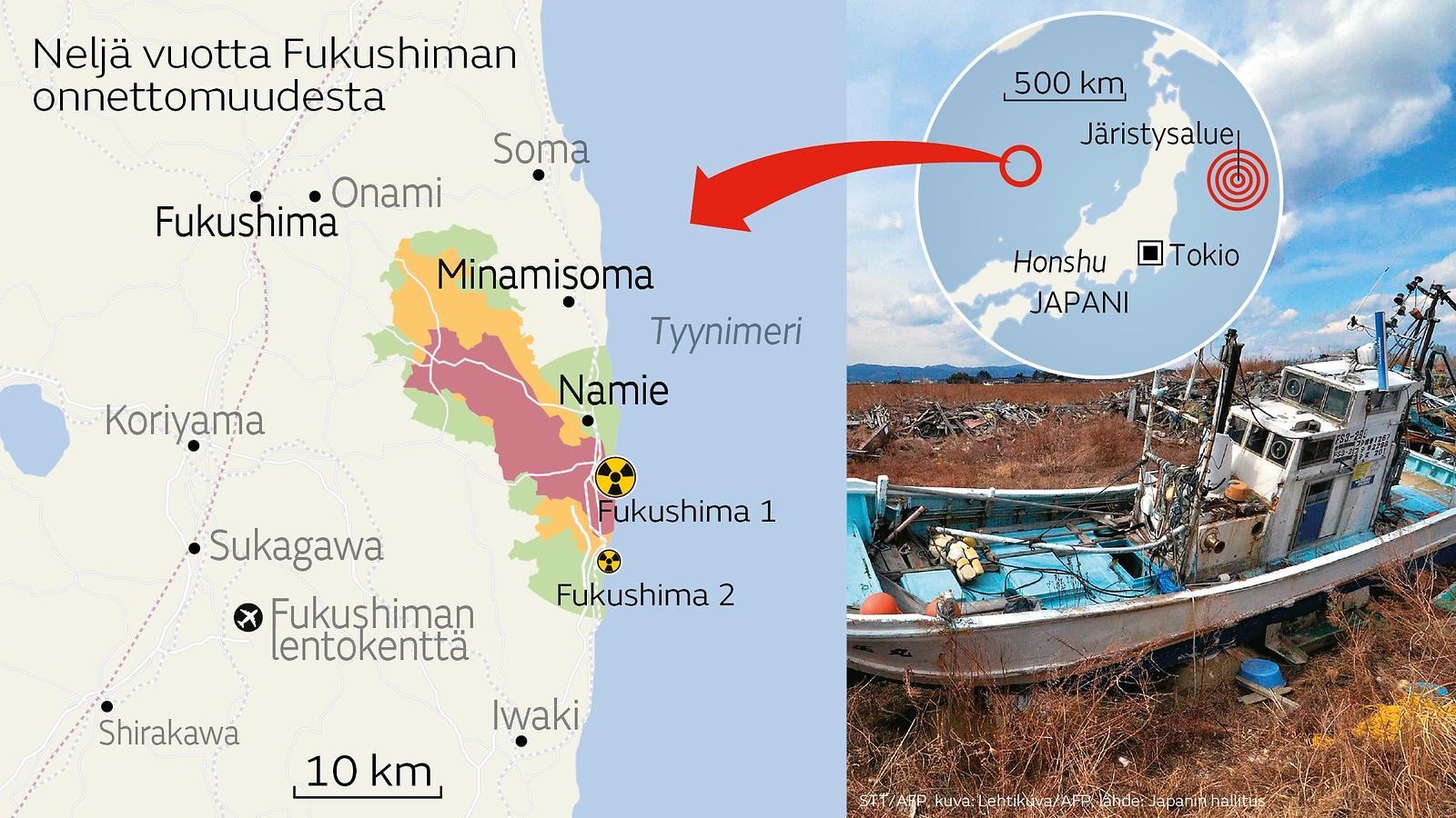 Japanin Ydinvoimalaonnettomuus